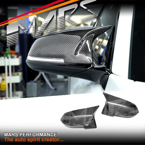 a89eb552e997 ... Carbon Fibre Mirror Caps (replacement) for BMW 1-Series F20   2-Series  F22   M2 F87   3-Series F30   4-Series F32   X1 E84. Double tap to zoom