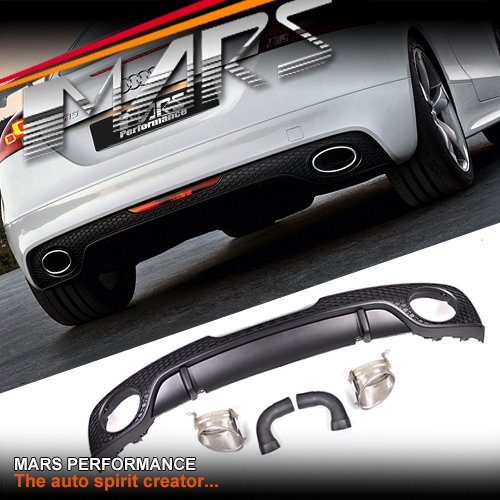 rs tt style rear bumper bar diffuser with exhaust tips for. Black Bedroom Furniture Sets. Home Design Ideas