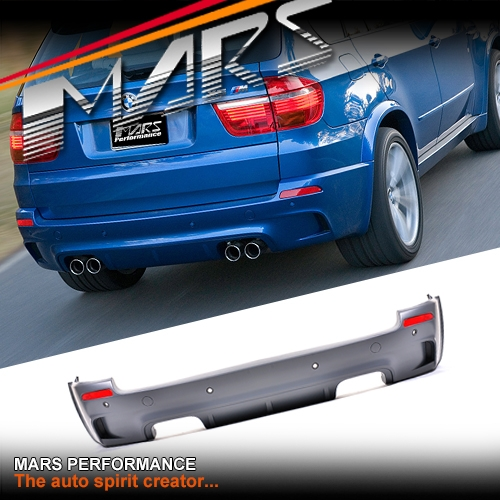 X5m Style Rear Bumper Bar With Twin Exhaust Outlet For Bmw X5 E70 07