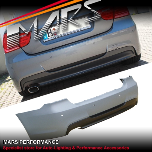 3f6e8ac8a6fa M Tech Sports Style Rear Bumper Bar with Single Exhaust Outlet for BMW E90  09-11 LCI Sedan Real Polypropylene material! The same material used in  almost all ...