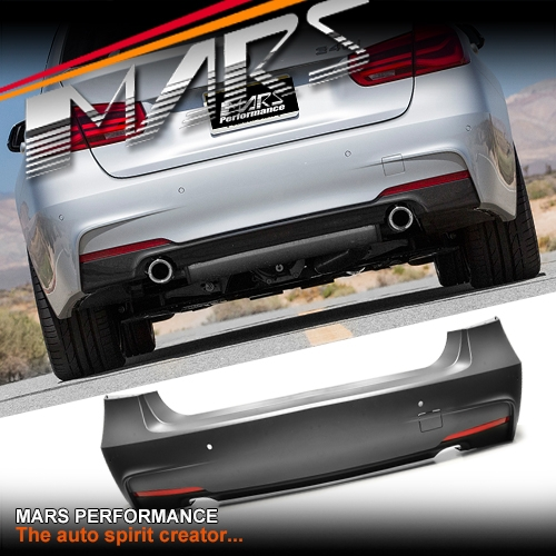 M Sports Style Rear Bumper Bar With Twin Exhaust Outlet For Bmw 3