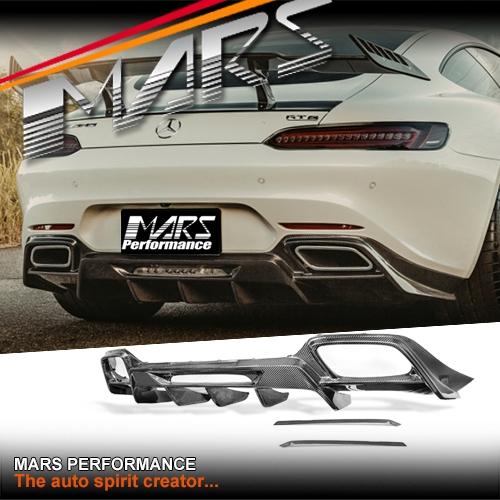 Renntech Style Carbon Fibre Rear Bumper bar Diffuser for Mercedes