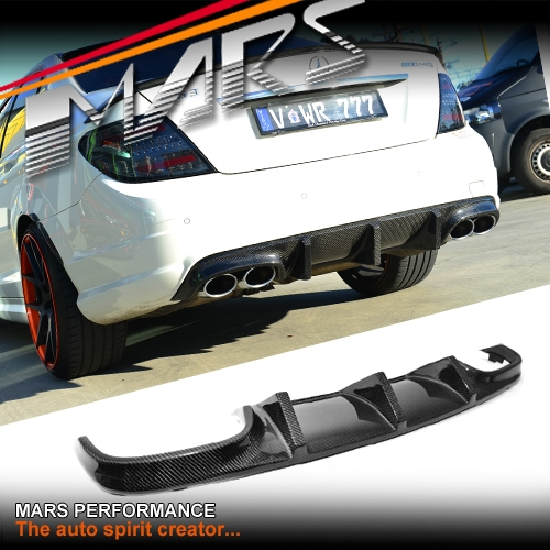 C63 DUAL EXHAUST REAR DIFFUSER 08-11 CARBON MERCEDES W204 AMG package