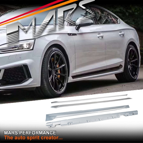 RS5 Style Side Skirts Body-Kits For AUDI A5 S5 5F 4 Doors