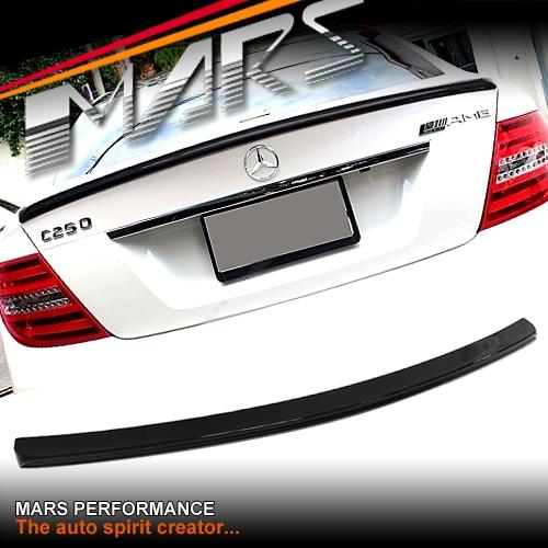 C63 507 AMG Style ABS Plastic (Gloss Black) Rear Trunk Lip