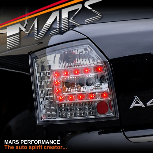 Smoked Black LED Tail Lights For AUDI A4 S4 B6 AVANT