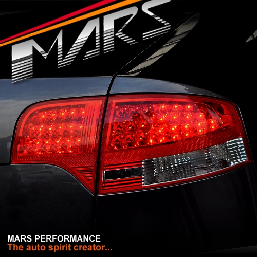 Smoked Red LED Tail Lights For AUDI A4 S4 RS4 S-Line B7 05