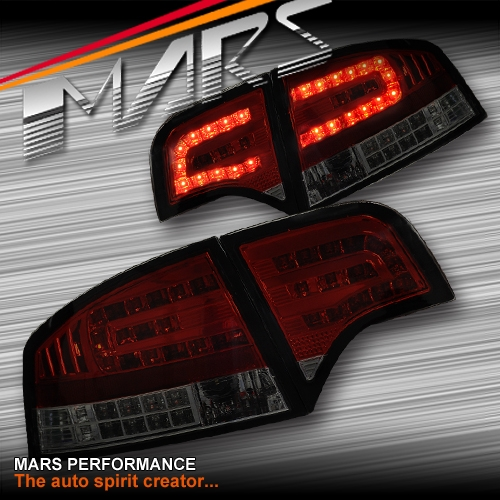 Smoked Red LED Tail Lights With LED Indicators For AUDI A4