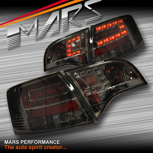 Smoked Black LED Tail Lights For AUDI A4 S4 RS4 S-Line B7