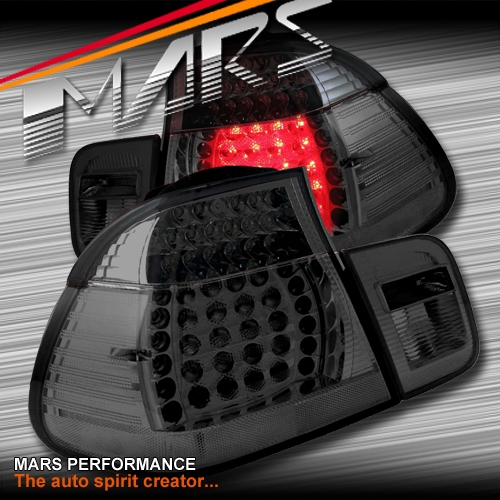 Smoked Black Led Tail Lights For Bmw 3 Series E46 2d Coupe