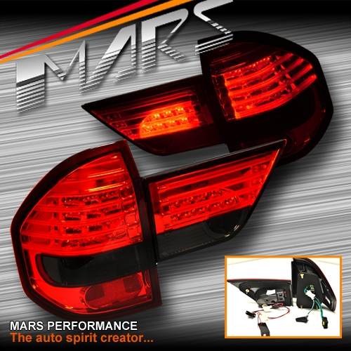 Smoked Red Led Tail Lights With Garnish For BMW E83 X3 04