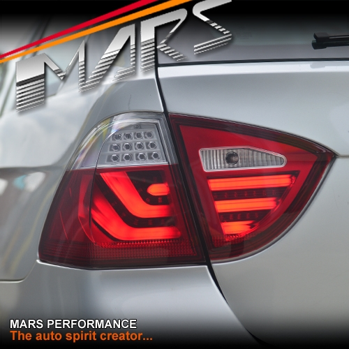 Clear Red 3d Stripe Bar Led Tail Lights For Bmw 3 Series
