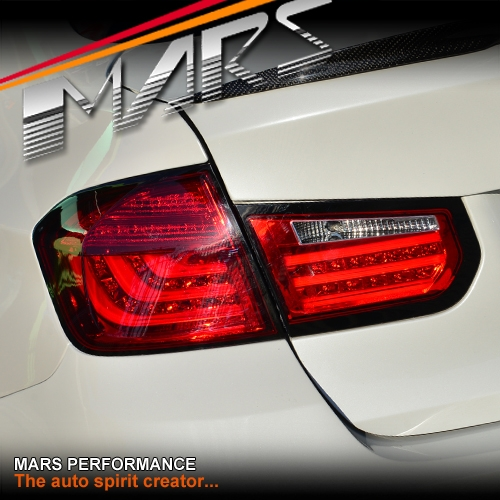 Full Red M5 Style 3D Stripe Bar LED Tail Lights For BMW 3