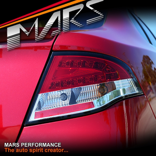Clear Red Led Tail Lights For Ford Falcon Fpv Fg Sedan Xt