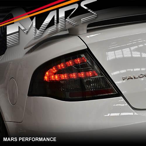 Smoked Led Tail Lights For Ford Falcon Fpv Fg Sedan Xt G6