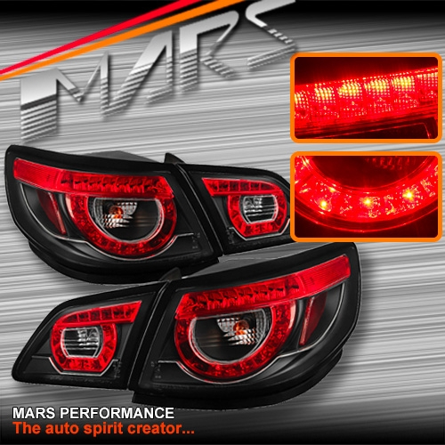 Black LED Tail Lights For Holden Commodore VF 4 Doors