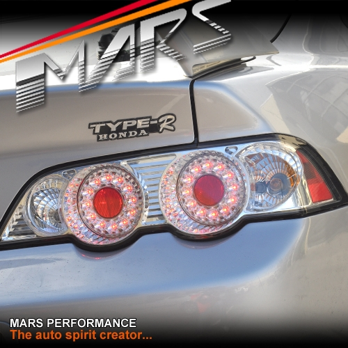 Crystal Clear Led Altezza Tail Lights For Honda Integra Dc5 01 04