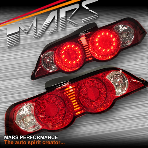 Clear Red Led Altezza Tail Lights For Honda Integra Dc5 01 04 Mars