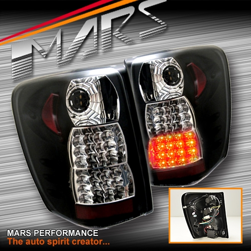 Black Led Tail Lights For Jeep Grand Cherokee Wj 99 04