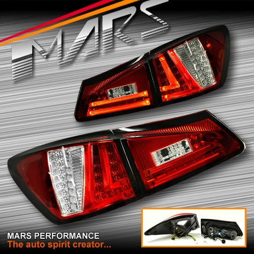 For Sale Lexus Is250: Clear Red 3D Stripe Bar LED Tail Lights For Lexus ISF