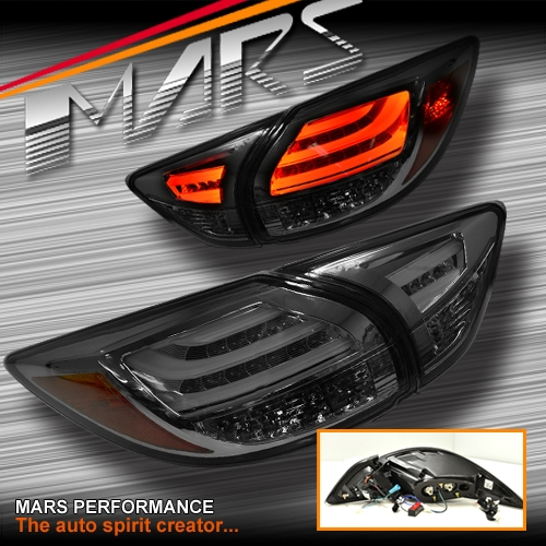Full Smoked 3d Led Stripe Bar Tail Lights With Led