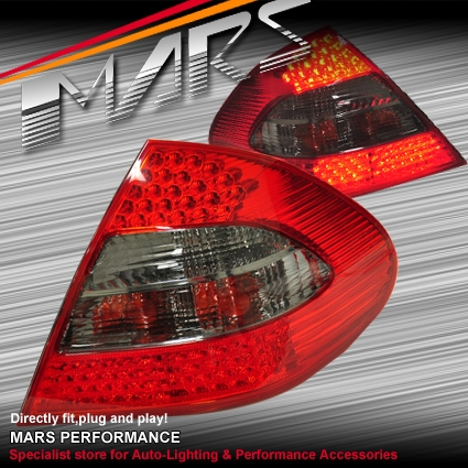 Smoked Red LED Tail Lights for Mercedes-Benz E-Class W211 Sedan 03