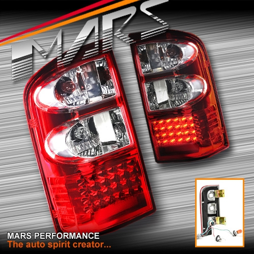 Clear Red Led Tail Lights For Nissan Patrol Gu 97 04