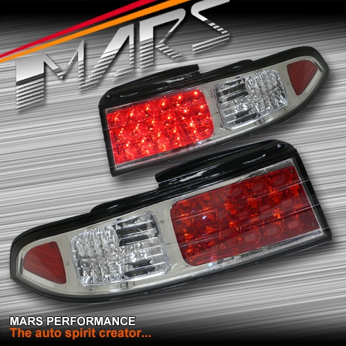 Crystal Clear LED Tail Lights For Nissan 200SX Silvia S14 93 98