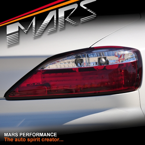 Clear Red Led Tail Lights For Nissan 200sx Silvia S15