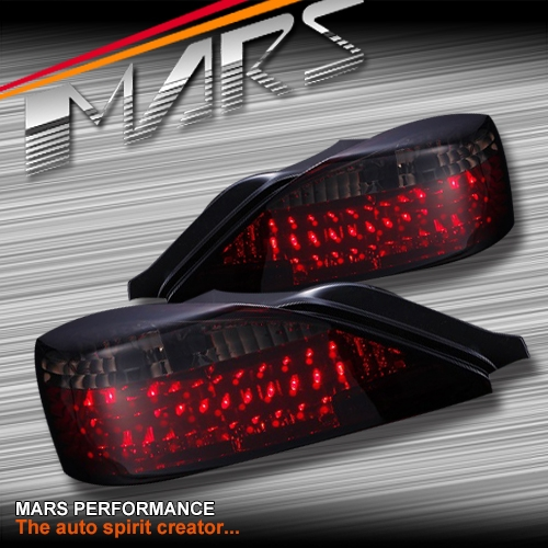 Smoked Red Led Tail Lights For Nissan 200sx Silvia S15