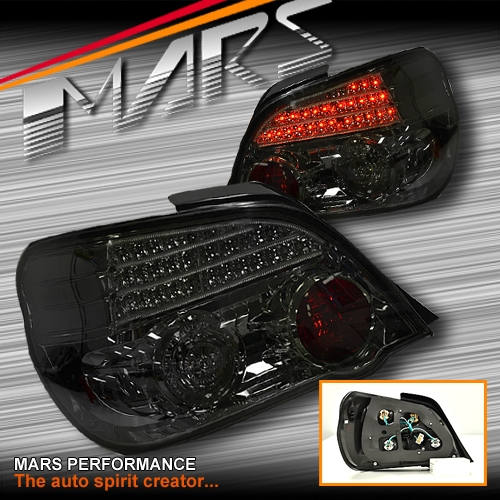 Jdm Smoke Black Led Tail Lights For Subaru Impreza Gd 03