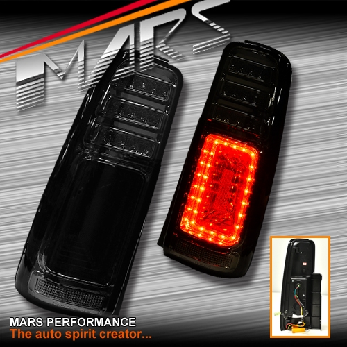 Jdm Smoked Black Led Tail Lights With Led Indicators For