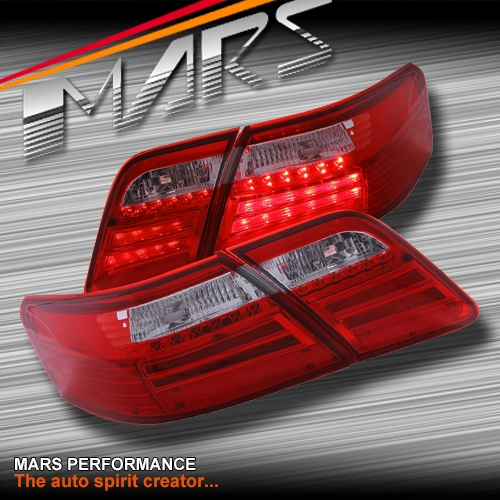 Smoked Red Led Tail Lights For Toyota Camry 06 09 Sedan