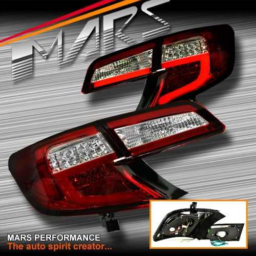 Clear Red 3d Stripe Bar Tail Lights With Led Indicators For Toyota