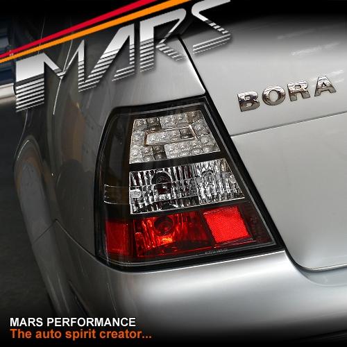 Black LED Tail lights for VolksWagen Bora & Jetta 98-04 MK4 | Mars Performance
