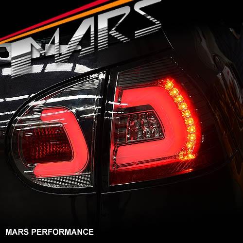 Full Smoked 3D Full LED Tail Lights For VolksWagen VW Golf